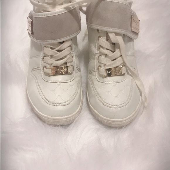 8b9618340d0 bebe Shoes - Bebe Colby wedge sneakers